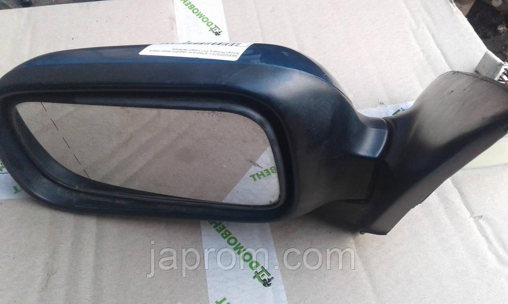 Зеркало заднего вида левое Nissan Primera P11 сине зеленое 96-02 г.в