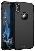 Чехол iPaky 360 градусов для iPhone X XS + защитная пленка