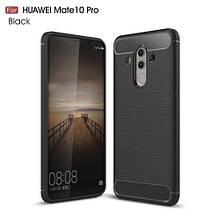 Чехол накладка TPU Fiber Carbon для Huawei Mate 10 Pro черный