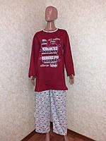 Пижама женская с начесом,  размер ХL (50)