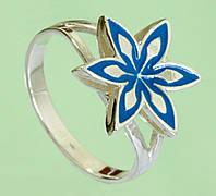 Срібний перстень без вставок з емаллю