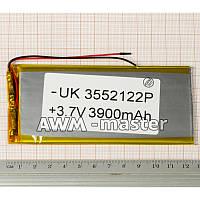Аккумулятор 3552122 для China (Li-ion 3.7В 3900мА·ч), (125*52*4 мм)