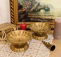 Два винтажных бронзовых подсвечника, Германия, бронза, фото 1