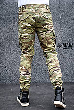 Штаны мужские милитари мультикам Cargo MAN AND WOLF street wear рип-стоп (50/50)  , фото 2