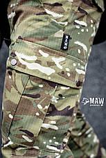 Штаны мужские милитари мультикам Cargo MAN AND WOLF street wear рип-стоп (50/50)  , фото 3