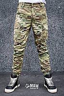 Штаны мужские милитари мультикам Cargo MAN AND WOLF street wear рип-стоп (50/50)