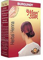 Хна-фарба для волосся MOON STAR бургунд виробництва Індії (10г+шампунь)