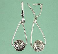 Срібні сережки без вставок