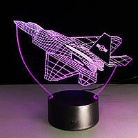 3D Светильник, 3D Ночник, 3D лампа «Самолет»