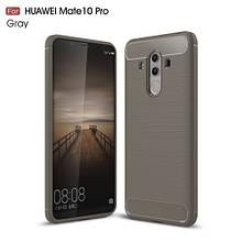 Чехол накладка TPU Fiber Carbon для Huawei Mate 10 Pro серый