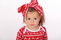 Новогодняя повязочка с оленями для девочки