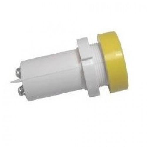Лампа СКЛ14Б-Ж-2-24П Ø 22 Желтая
