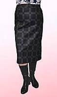 Зимняя женская юбка в крупную клетку 2011/2