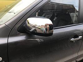 Декоративные накладки на зеркала Hyundai Santa Fe 2006+ (2 шт)