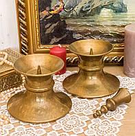 Два каминных подсвечника под пеньковую свечу, бронза, Германия, фото 1