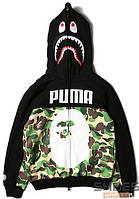 Худи Bape x Puma Black (ориг.бирка)