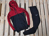 Спортивный костюм Nike утепленный бордо с капюшоном