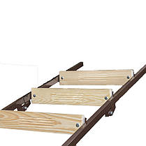 Лестница на чердак 100*70 см метал/дерево (Украина), фото 3