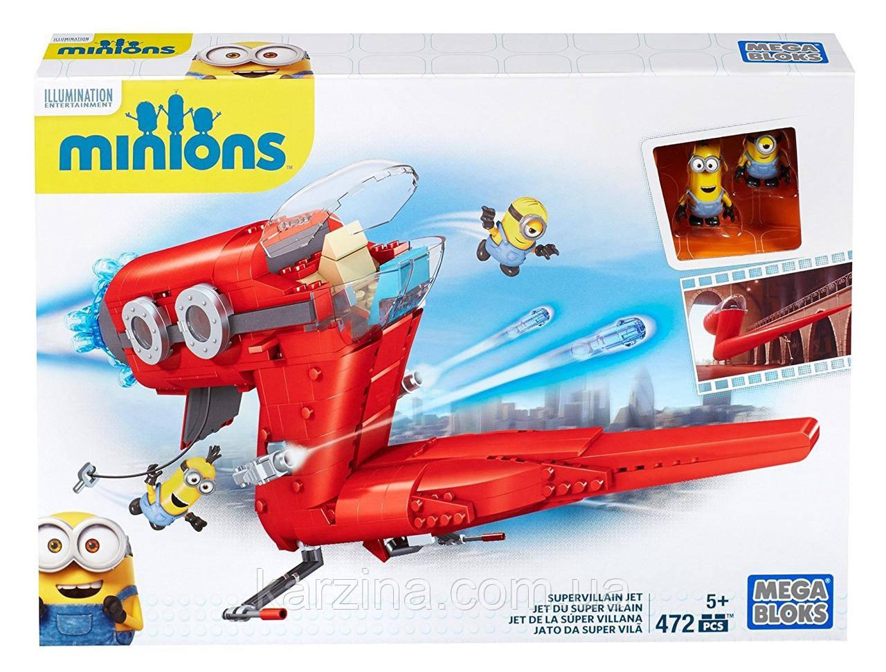 Конструктор Mega Bloks Minions Supervillain Jet