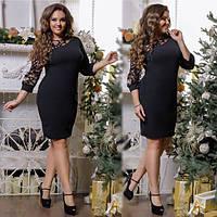 """Вечернее платье """"Оля"""" батал (48-58) 3 цвета"""