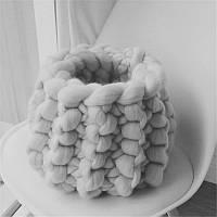 Реквизит для фотосессии новорожденных корзина из шерсти мериноса