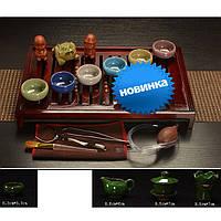 Набор китайской чайной церемонии мраморная керамика подарочный 18 предмета 9994
