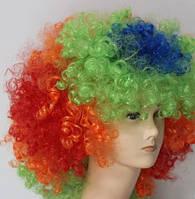 Парик искусственные карнавальный разноцветный клоун косплей cosplay