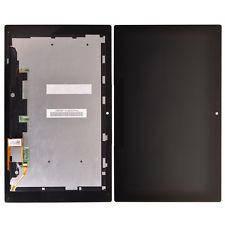 Экран (дисплей) для планшета Sony Xperia Tablet Z с сенсором (тачскрином) и рамкой черный Оригинал, фото 2