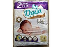 Подгузники Dada 2 (3-6 кг) 64 шт.