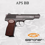 Пневматический пистолет Gletcher APS BB Blowback Пистолет Стечкина АПС, фото 2