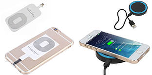 QI приемник для iPhone 5 5S SE 6 6S 7 8 / 6 6S 7 8 Plus + Беспроводное зарядное устройство