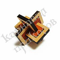 Головоломка деревянная 3D Два в одном