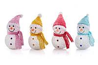 Новогодний снеговик лед