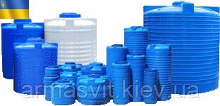 Пластиковая емкость для воды 10 000 литров (10 м³) однослойная и двухслойная