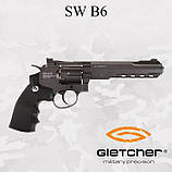 Пневматический револьвер Gletcher SW B6 Smith & Wesson , фото 2