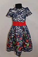 Праздничное детское платье для девочек с вышивкой, фото 1