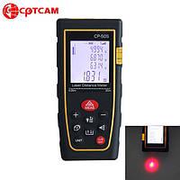 Лазерный дальномер ( лазерная рулетка ) CPTCAM CP-50S (от 0,03 до 50 м) проводит измерения V, S