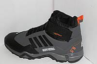 Мужские зимние ботинки Bona на липучке 40-45, чёрный