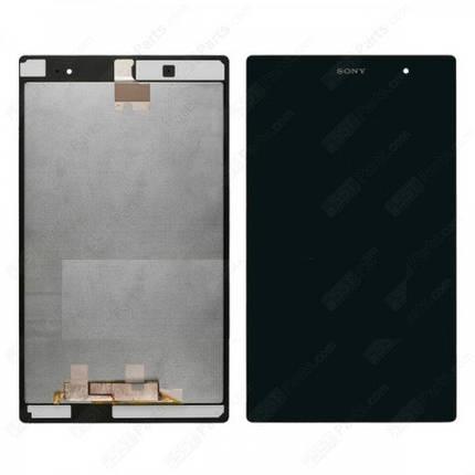 Экран (дисплей) для планшета Sony Xperia Tablet Z3 Compact (SGP611/SGP612) с сенсором (тачскрином) черный Оригинал, фото 2