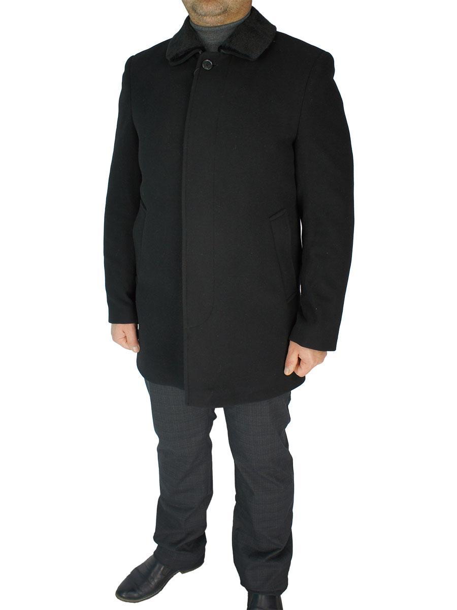 Мужское классическое пальто Black Lion 4205-CM01/2450 черного цвета