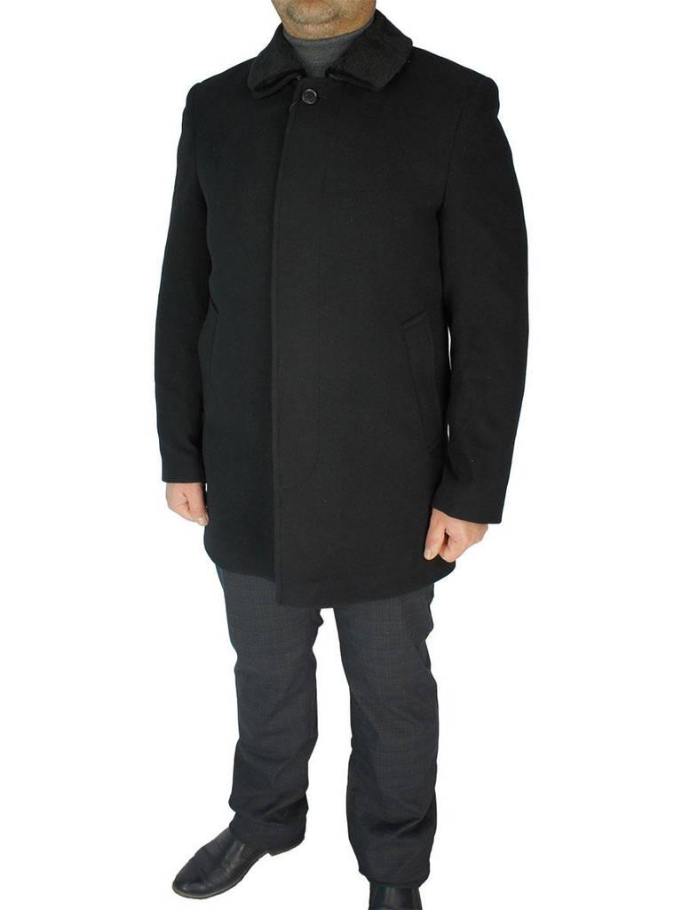 Мужское классическое пальто Black Lion 4205-CM01 2450 черного цвета ... a92321976a5c9