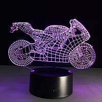 Светильник мотоцикл, Светильники для детской, с пультом управления, 3D Led Светильники
