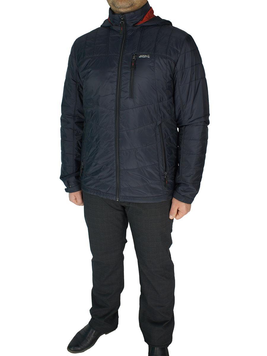Демисезонная мужская куртка Sooyt Fashion М217 С.401# в темно-синем цвете