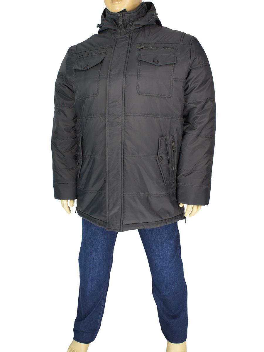 Зимняя мужская куртка Santoryo WK 7108 В серого цвета в большом размере -  Магазин мужской одежды 72ca6052aa327