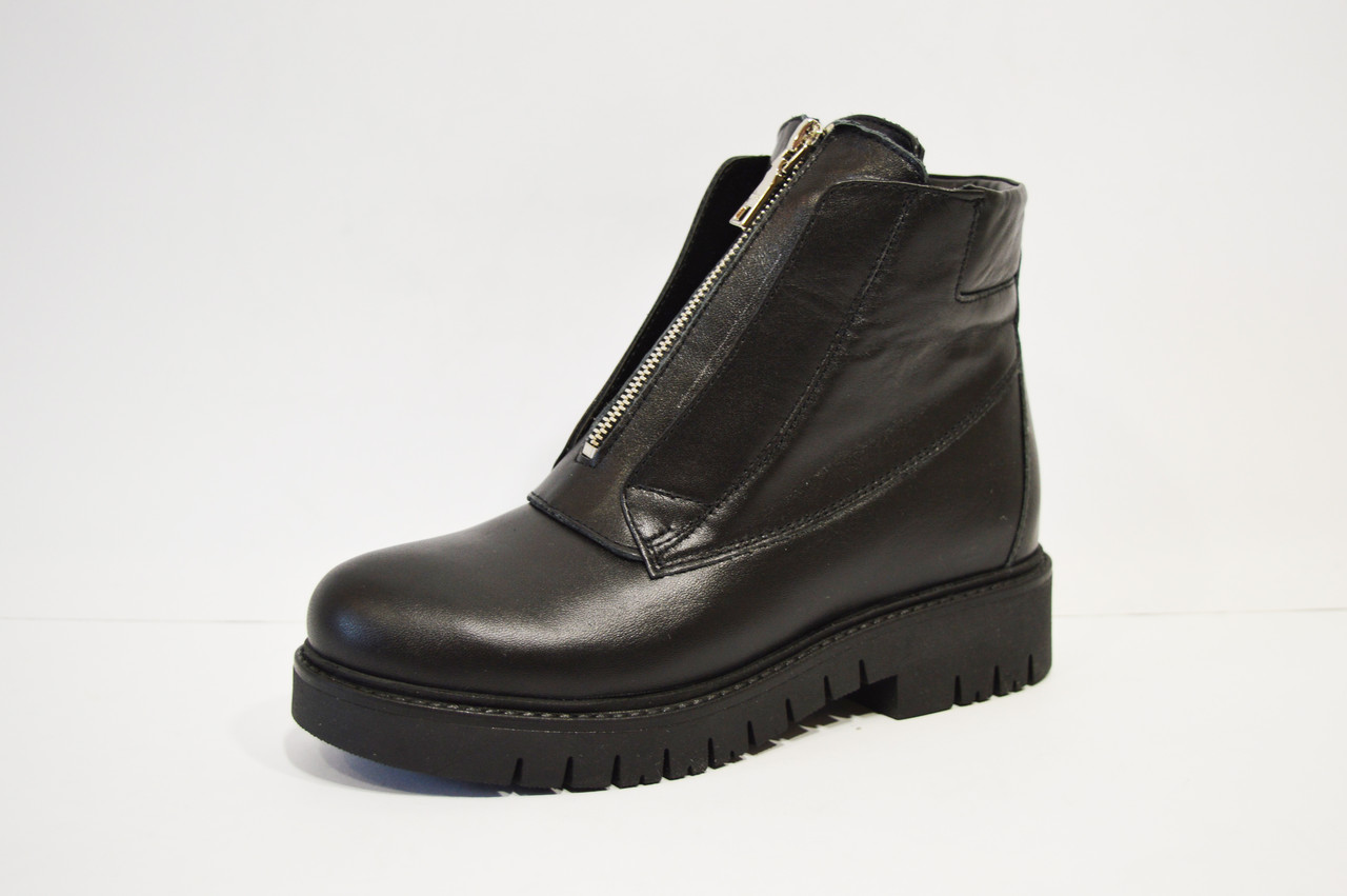 Кожаные женские ботинки Selesta - КРЕЩАТИК - интернет магазин обуви в Александрии