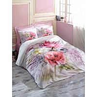 3D комплект постельного белья евро размера Cotton Box EMILY LILA CB02