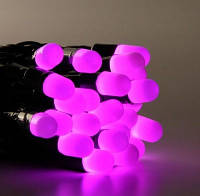 Гирлянда на 100 LED розовая