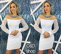 Белое короткое платье (арт. 616286643)