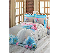 3D комплект постельного белья евро размера Cotton Box NERISSA TURKUAZ CB02