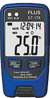 Регистратор температуры и влажности FLUS ET175 (-40°C~70°C; 0-100%) 32000 точек. Цена с НДС